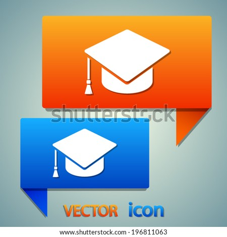 Stickers with web icons - stock vector