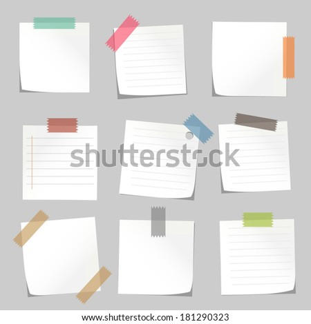 Sticks note paper  - stock vector