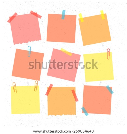 Sticky note isolated on white background. Vector illustration. eps10 - stock vector
