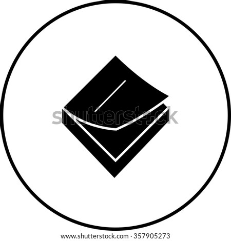 sticky notes memo pad symbol - stock vector