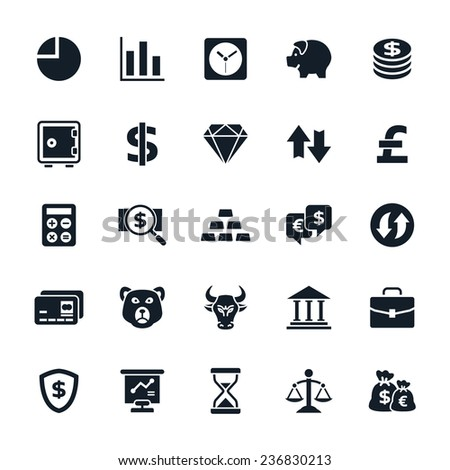 Stock and Finance icons Vector illustration - stock vector