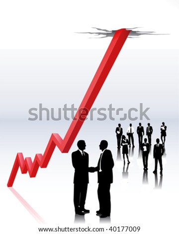 stock brokers - stock vector