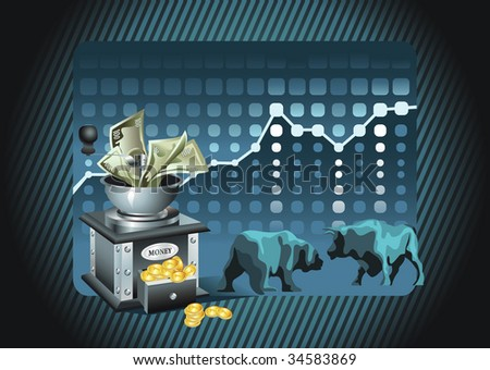 Stock exchange - stock vector