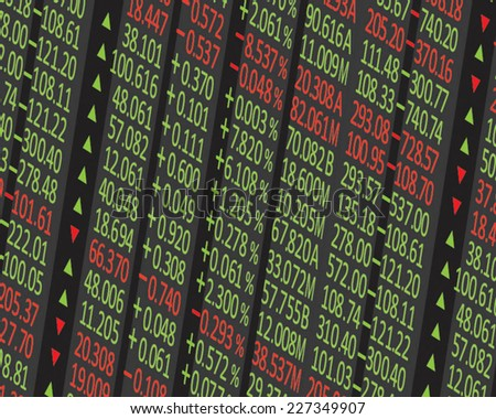 stock exchange background - stock vector