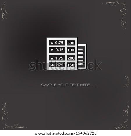 Stock exchange symbol,vector - stock vector