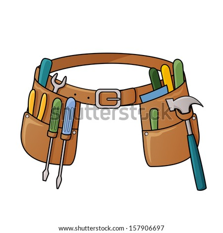 Stock illustration of tool belt - stock vector
