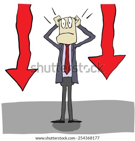 Stock market is falling - stock vector