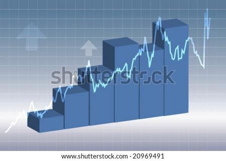 Stock Market rise - stock vector