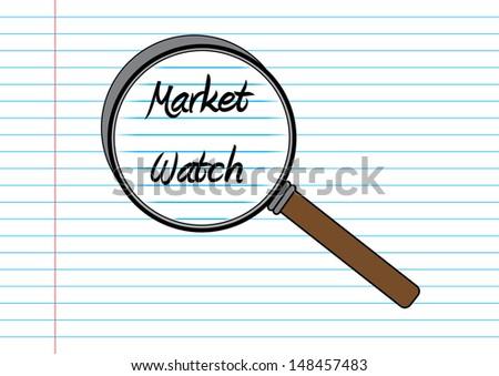 Stock Market Watch Concept. Vector - stock vector