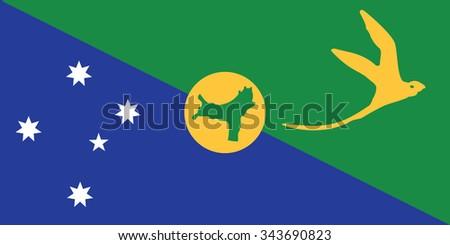 Stock Vector Flag of Christmas Island - Proper Dimensions - stock vector