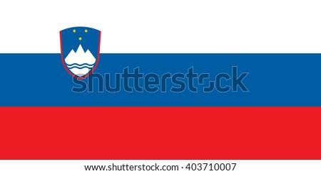 Stock Vector Flag of Slovenia - Proper Dimensions - stock vector