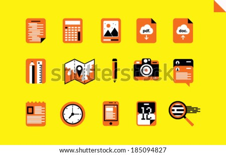 Stock vector flat icons - stock vector