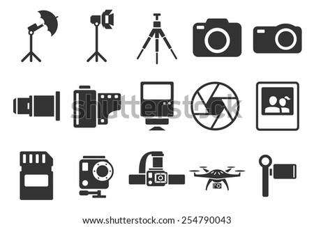 Stock Vector Illustration: camera icons - Illustration - stock vector