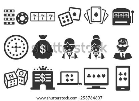 Stock Vector Illustration: Casino icons - stock vector