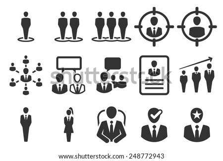 Stock Vector Illustration: Human resource icons - stock vector
