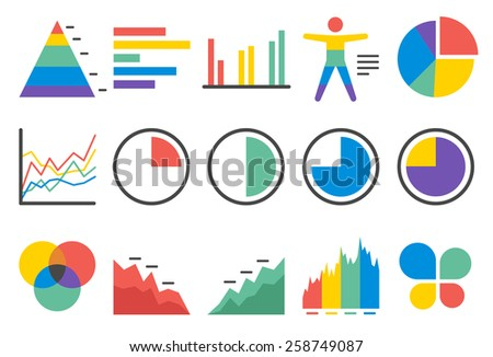 Stock Vector Illustration: Stat icons set 1 - stock vector