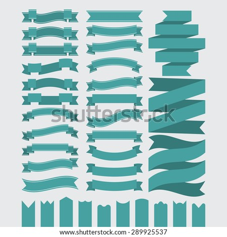 Stock Vector Set of ribbons. - stock vector