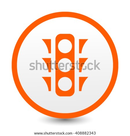 stock vector the traffic light icon stoplight and semaphore  - stock vector