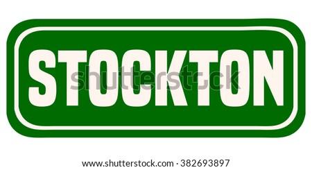 Stockton Green Sign, Vector Illustration.  - stock vector