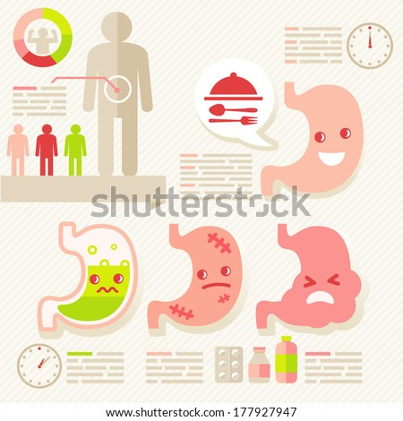 stomach/info-graphic of Healthcare - stock vector