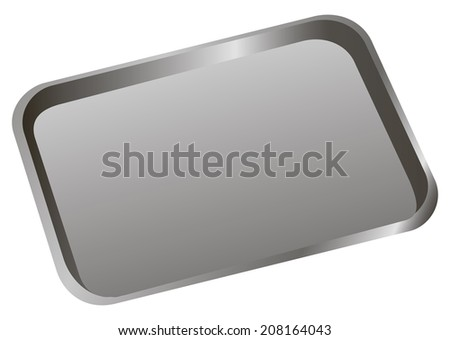 Stomatological tray to accommodate a dental tool. Vector illustration. - stock vector