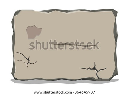 Stone tablet - stock vector