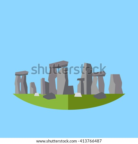 stonehenge England illustration - stock vector