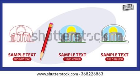Stonehenge, logo - stock vector