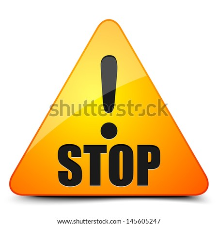 Stop! - stock vector