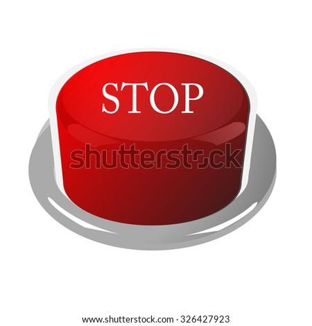 Stop button - stock vector