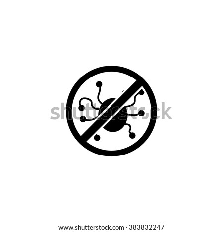 Stop computer virus. Protection.  - stock vector