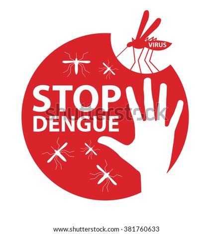Stop Dengue Sign. vector illustration. - stock vector