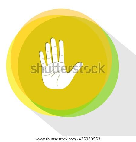 stop hand. Internet template. Vector icon. - stock vector