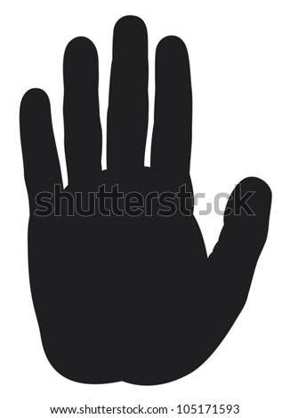 stop hand silhouette - stock vector