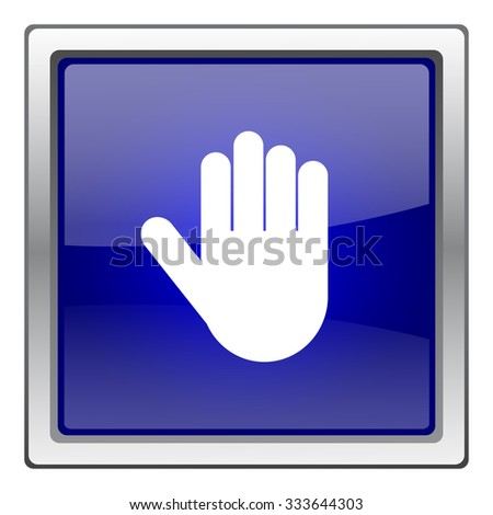 Stop icon. Internet button on white background. EPS10 vector. - stock vector