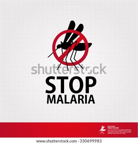 stop malaria - stock vector