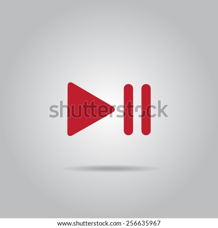 Stop,play,pause web icons - stock vector