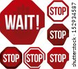 stop sign icon set - stock vector