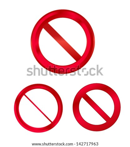 stop sign set - stock vector