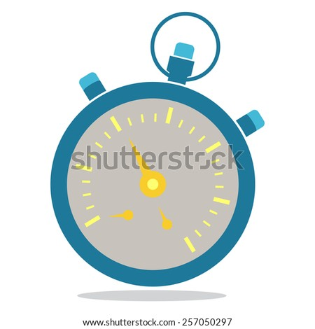 Stop watch flat icon design - stock vector