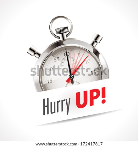 Stopwatch - hurry UP - stock vector