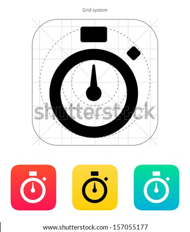 Stopwatch icon. Vector illustration. - stock vector