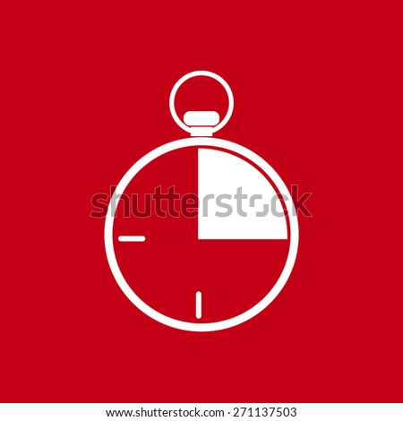 Stopwatch icon, vector illustration. Flat design style.. - stock vector