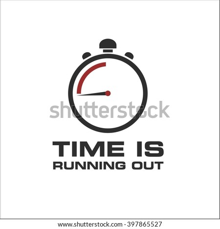 stopwatch  Time is running out - stock vector