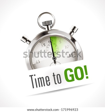 Stopwatch - time to go - stock vector