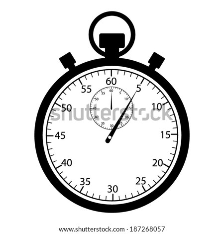 Stopwatch vector icon - stock vector