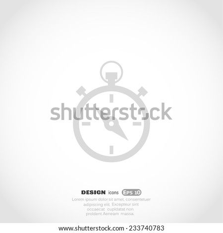 stopwatch, Web icon. vector design - stock vector