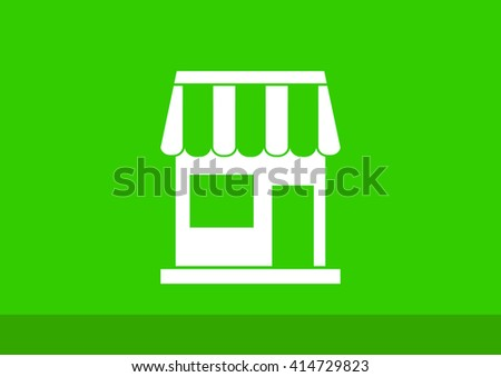 Store icon, Store icon eps 10, Store icon vector, Store icon ill - stock vector