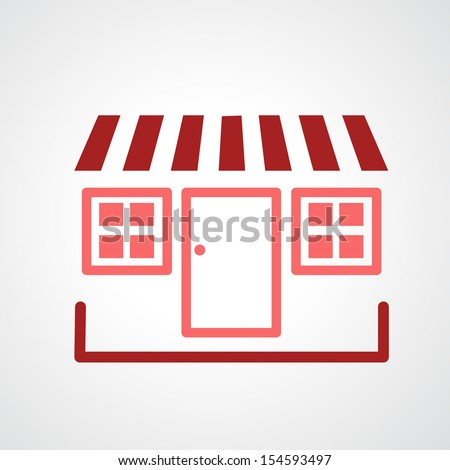 storefront icon isolated on white background - stock vector