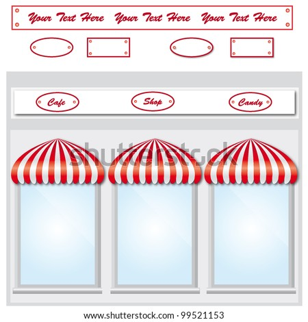 Storefront with awning - stock vector